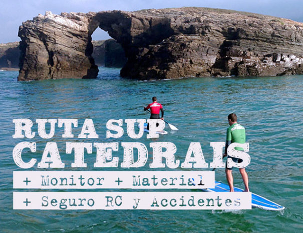 Ruta SUP playa catedrales